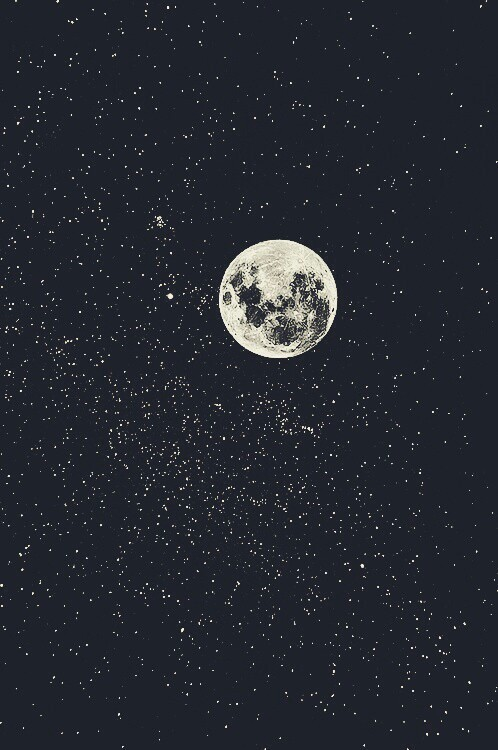 night sky hanging with a moon bro